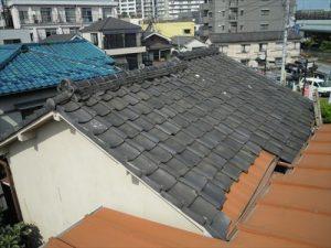 東京都葛飾区 M様邸 和瓦からコロニアル葺きへ 屋根葺き替え工事 施工前3