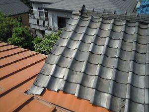 東京都葛飾区 M様邸 和瓦からコロニアル葺きへ 屋根葺き替え工事 施工前5