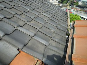 東京都葛飾区 M様邸 和瓦からコロニアル葺きへ 屋根葺き替え工事 施工前9