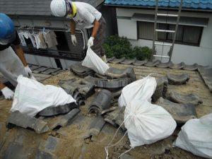 東京都葛飾区 M様邸 和瓦からコロニアル葺きへ 屋根葺き替え工事 施工中15