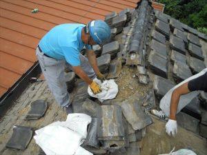 東京都葛飾区 M様邸 和瓦からコロニアル葺きへ 屋根葺き替え工事 施工中16