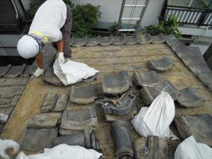 東京都葛飾区 M様邸 和瓦からコロニアル葺きへ 屋根葺き替え工事 施工中17