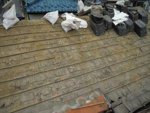 東京都葛飾区 M様邸 和瓦からコロニアル葺きへ 屋根葺き替え工事 施工中18
