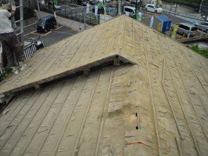 東京都葛飾区 M様邸 和瓦からコロニアル葺きへ 屋根葺き替え工事 施工中19