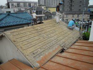 東京都葛飾区 M様邸 和瓦からコロニアル葺きへ 屋根葺き替え工事 施工中24