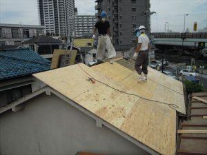東京都葛飾区 M様邸 和瓦からコロニアル葺きへ 屋根葺き替え工事 施工中25