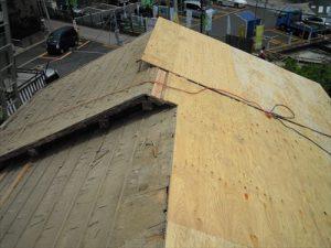 東京都葛飾区 M様邸 和瓦からコロニアル葺きへ 屋根葺き替え工事 施工中26