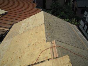 東京都葛飾区 M様邸 和瓦からコロニアル葺きへ 屋根葺き替え工事 施工中27