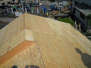 東京都葛飾区 M様邸 和瓦からコロニアル葺きへ 屋根葺き替え工事 施工中28
