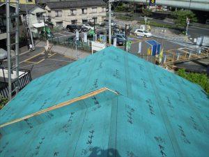 東京都葛飾区 M様邸 和瓦からコロニアル葺きへ 屋根葺き替え工事 施工中31