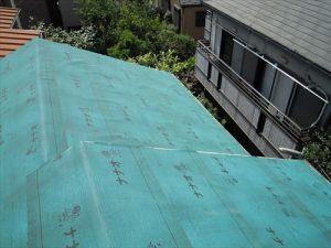 東京都葛飾区 M様邸 和瓦からコロニアル葺きへ 屋根葺き替え工事 施工中32