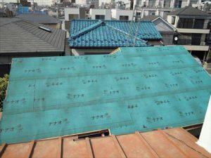 東京都葛飾区 M様邸 和瓦からコロニアル葺きへ 屋根葺き替え工事 施工中34