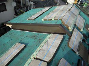東京都葛飾区 M様邸 和瓦からコロニアル葺きへ 屋根葺き替え工事 施工中37
