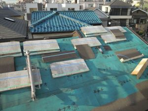 東京都葛飾区 M様邸 和瓦からコロニアル葺きへ 屋根葺き替え工事 施工中39