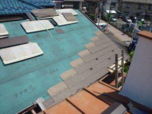 東京都葛飾区 M様邸 和瓦からコロニアル葺きへ 屋根葺き替え工事 施工中40