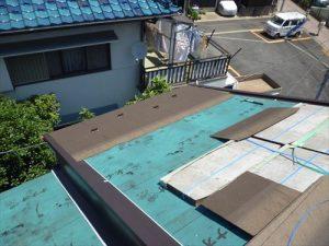 東京都葛飾区 M様邸 和瓦からコロニアル葺きへ 屋根葺き替え工事 施工中41