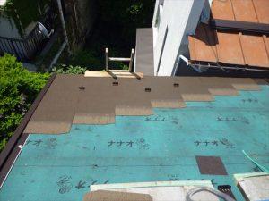 東京都葛飾区 M様邸 和瓦からコロニアル葺きへ 屋根葺き替え工事 施工中42