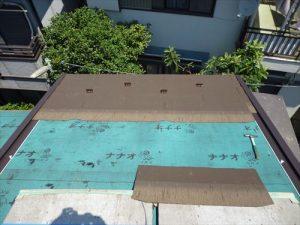 東京都葛飾区 M様邸 和瓦からコロニアル葺きへ 屋根葺き替え工事 施工中43