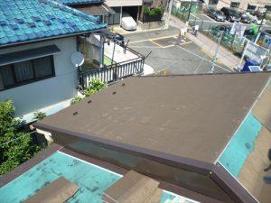 東京都葛飾区 M様邸 和瓦からコロニアル葺きへ 屋根葺き替え工事 施工中44
