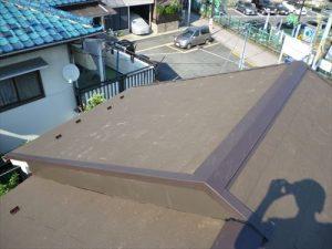 東京都葛飾区 M様邸 和瓦からコロニアル葺きへ 屋根葺き替え工事 施工中47