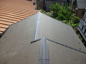 東京都葛飾区 M様邸 和瓦からコロニアル葺きへ 屋根葺き替え工事 施工後