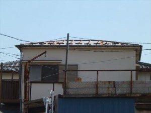 東京都江戸川区 H様邸 ガルバリウム鋼板タテ平葺き 屋根葺き替え工事 施工前