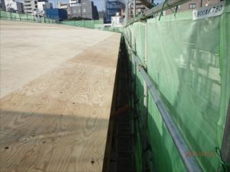 東京都北区赤羽 保育園 新築ガルバリウム鋼板屋根タテ平葺き工事 軒先側