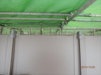 東京都北区赤羽 保育園 新築ガルバリウム鋼板屋根タテ平葺き工事 軒先部おさまり