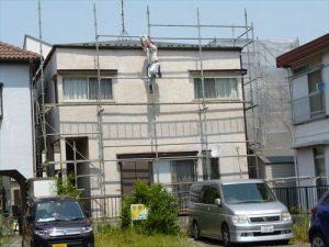 千葉県市川市Y様邸 外壁塗装工事 施工前・足場