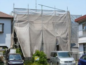 千葉県市川市Y様邸 外壁塗装工事 施工前・養生