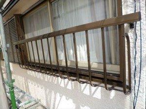 千葉県市川市Y様邸 外壁塗装工事 施工中・手摺取付