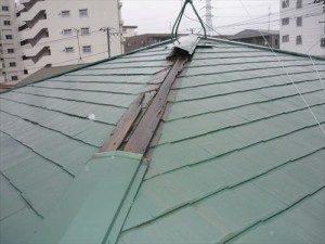 千葉県市川市Y様 棟板金交換工事 既存屋根の様子