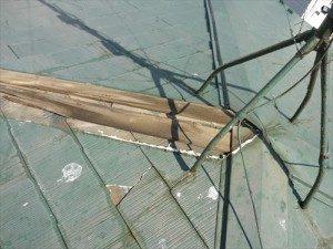 千葉県市川市Y様 棟板金交換工事 既存の貫板