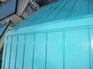 東京都江戸川区 S様邸 ガルバリウム鋼板タテ平葺き(シージングボード下地)屋根葺き替え工事 屋根の葺き替え完了