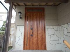 玄関ドアリフォーム施工後